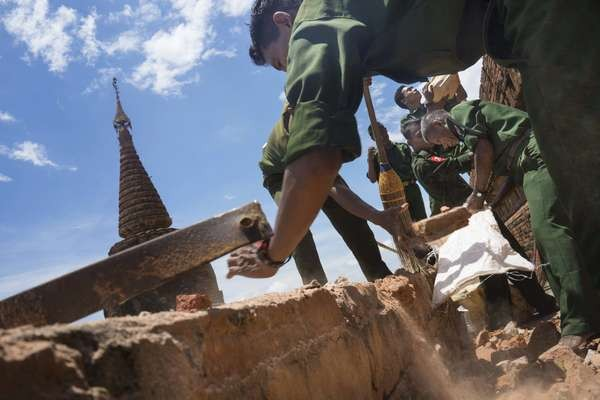 Động đất làm thiệt hại nhiều ngôi cổ tự PG ở Myanmar